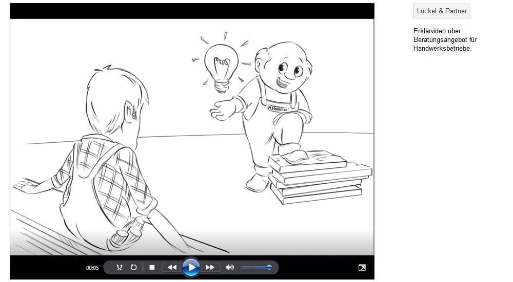 Erklärvideo über Beratungsangebot für Handwerksbetriebe.