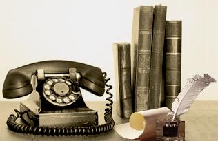 Telefon, Tinte und Feder